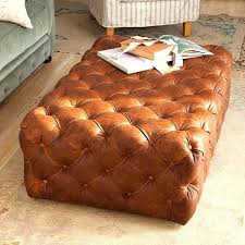round leather tufted ottoman tufted leather ottoman coffee table shellecaldwell com