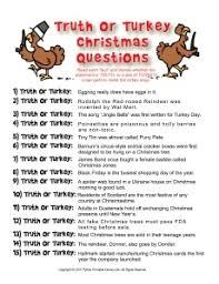 or turkey true or false trivia for crafts