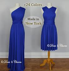 royal blue bridesmaid dress infinity dress convertible dress