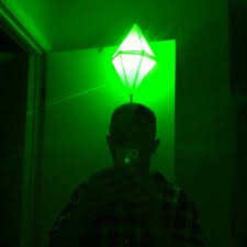 plumbob headband led light up sims plumbbob costume that green pylon above their