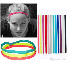 2018 women men hair bands sports headband anti slip elastic