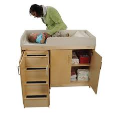 Changing Table Wooden Step Up Changing Table