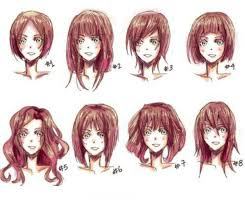 anime hairstyles tutorial different female hairtyps draw drawing hair anime tutorial