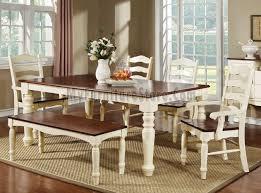 cherry dining room set palisade vintage white and cherry dining room set by furniture of