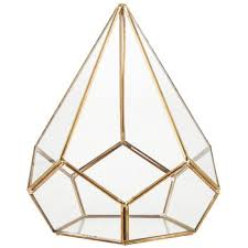 gold triangular metal u0026 glass terrarium hobby lobby 1271709