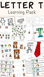 letter t worksheets for preschool and kindergarten fun with mama