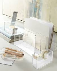 Clear Desk Accessories Acrylic Stapler Desk Accessories Desks And Acrylics Within Lucite