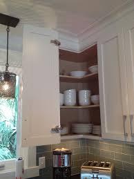 Kitchen Corner Wall Cabinet Easy Reach Corner Wall Cabinet Beach Style Kitchen Atlanta