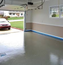 grey and white garage walls paint with red stripe in