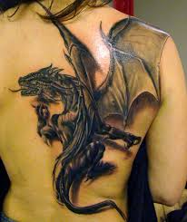 3d dragon tattoo design for girls on back tattoos book 65 000