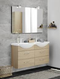 twin basin vivo in the small bathroom large mirror with kubus