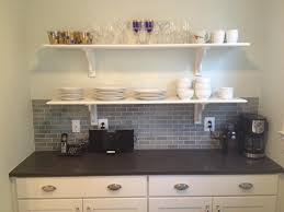 Black Subway Tile Kitchen Backsplash Bathroom Astounding Picture Of Small Kitchen Decoration With