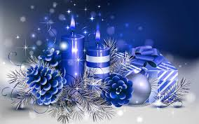 candles n christmas christmas blue candle hd wallpapers images