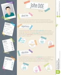 Where To Post Your Resume Online by Cool Resume Cv With Post Its And Color Tapes Stock Vector Image