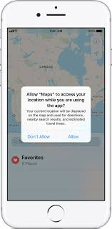 give me a map of my location about privacy and location services in ios 8 and later apple support