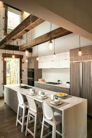 Kitchen Industrial Lighting Rustic Beams Exposed Beam Lighting Ideas Kitchen Industrial With