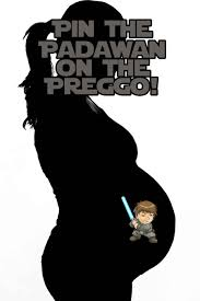 wars baby shower decorations pin the padawan on the preggo wars baby shower created