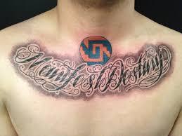 chest script designs chest script tattoos designs and ideas