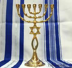 7 branch menorah for sale brass messianic temple menorah 7 branch grafted jerusalem seal