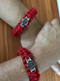 bracelet red images R e d paracord bracelet handmade by us veterans handmade by heroes jpg