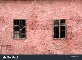 two old windows pink brick wall stock photo 80563111 shutterstock
