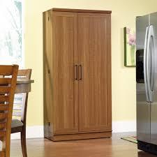 oak kitchen pantry storage cabinet homeplus storage cabinet 411965 sauder