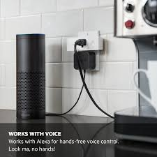 fans that work with alexa wemo mini smart plug wi fi enabled works with amazon alexa amazon