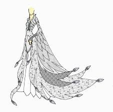 white peacock gown by elvenbutterfly on deviantart