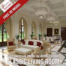 sketchup texture free sketchup model luxury classic living room