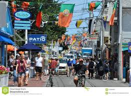 commercial street in provincetown cape cod in massachusetts