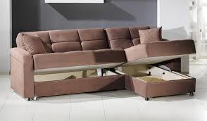 Small Chaise Lounge with Living Room Modern Brown Leather Sectional Sleeper Sofa With