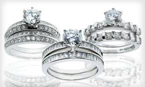 groupon wedding rings cz wedding ring sets groupon goods