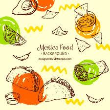fonds de cuisine fond de cuisine mexicaine créative télécharger des vecteurs