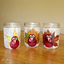 turkey leaf lanterns thanksgiving craft rhythms of play