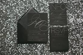 and black wedding invitations oh so trendy and modern black foil on black paper wedding