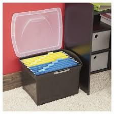 Plastic File Cabinet Sterilite Large Letter File Box Black Target