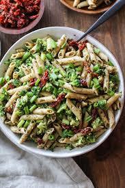 pasta salad pesto kale pesto pasta salad with sun dried tomatoes and broccoli the