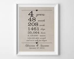 4 year anniversary gift for him best 25 4th anniversary gifts ideas on 4th wedding