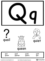 words starting with letter q myteachingstation com
