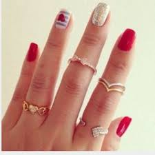 lovisa midi rings set 10 pcs women s fashion on carousell