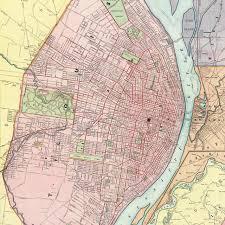 map st louis rand mcnally map of st louis mo 1893