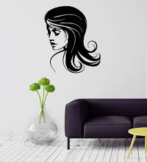 pretty wall decals promotion shop for promotional pretty wall wall decal beauty salon pretty woman hair salon spa stylist vinyl mural sexy girl art decals wallpaper living room decor d254