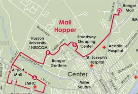 maine mall map welcome to the city of bangor maine mall hopper route