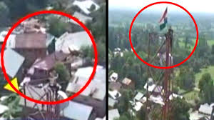 Army Flag Pictures Army Jawan Risks Life To Bring Down Pakistan Flag Hoisted In