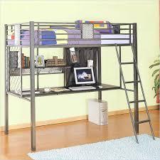 metal loft bed with desk twin size metal bed frame desk metal bunk