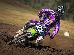 australian freestyle motocross riders monster energy kawasaki australia riders wear fly racing gear in