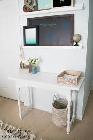 Diy Easy Desk How To Turn A Narrow Table Into A Desk Diy Desk Upcycle Our