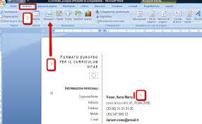 curriculum vitae formato europeo download pdf da compilare curriculum guida alla redazione del curriculum vitae formato europeo
