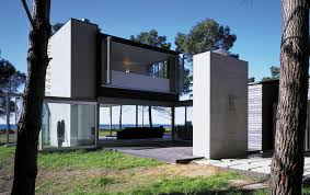 l shaped beach house design with open plan concept home
