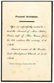 funeral invitation invitation to a funeral complete guide exle